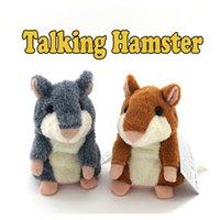 50pcs juguetes de habichuelas juguete de juguete hablando lindo caliente hablan hablando de sonido hamster hamster de habla juguetes para niños