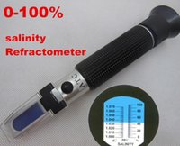 Wholesale hot new portable hand held LED light salinity salt refractometer meter tester for aquarium fishery tanks