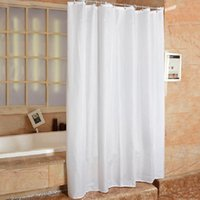 Wholesale 135 x cm Mildew free Waterproof Polyester Bathroom Shower Curtain with Hooks