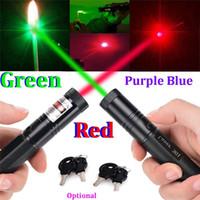 Wholesale car RED Violet Purple Blue Green Laser Pointer Pen Focus NM NM NM Zoom Burning Visible Adjustable Beam Range m