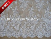 Wholesale 3Meters Gorgeous Off White Net Embroidered Lace Bridal Guipure Lace Fabric DIY Cord Lace Sewing Accessories