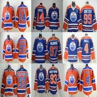 Wholesale 2016 Edmonton Oilers Connor McDavid Taylor Hall gretzky nugent hopkins eberle Blank White Blue Orange Milan Jerseys