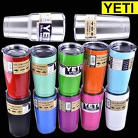 Wholesale Yeti Tumbler Rambler Beer Cup oz oz Yeti Cups Stainless Steel Double Wall Vacuum Insulated Travel Mug with lid dhl free oth242