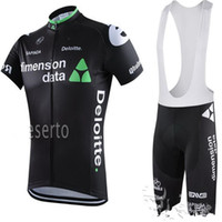 Wholesale Pro Team Dimensions Data White Black Cycling Jersey Bib Shorts Sets Summer Short Sleeve Cycling Clothing Outdoor Sport Wear