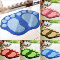big bath rugs - New lovely big foot shape soft bath mat Anti slip bathroom rug toilet foyer floor carpet household kitchen mat pad