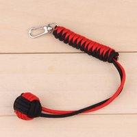 Wholesale Paracord Key Lanyard Monkey Fist Self defense quot Steel Core Keychain