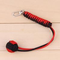 Wholesale Paracord Key Lanyard Monkey Fist Self defense quot Steel Core Keychain