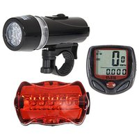 Wholesale Bike Light Set Waterproof LED Lamp Bicycle Front Headlight Rear Safety Taillight Flashlight Set led Bicycle taillights THeadlight