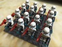 Wholesale New Star Wars Building Blocks Stormtrooper officer The Force Awakens Minifigure Complete Sets collection Bricks Toys without box E1803