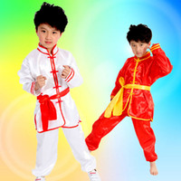 6T+ art practices - 3pcs3color children traditional national martial arts dance practice tai chi men and women wear casual long sleeves Kung Fu shirt pants