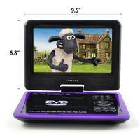 Wholesale HD Portable DVD Player Degree Swivel Rotation Gaming Copy Function TV Radio