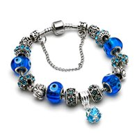 Wholesale Evil Eye Charm Bead Bracelet DIY Handmade Bracelets for Women Men Charms Fit Bangles Pulseira Feminina Luxury Design Fashion Bracelets