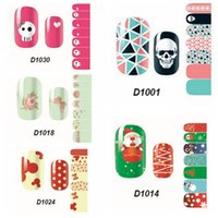 adhesive plastic foil - DIY Fashion Women Foils Nail Art Stickers Tips Decals Polish Wraps Adhesive Decals Halloween Party Nail Art Beauty Hot