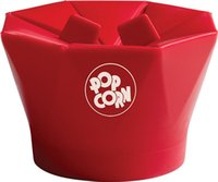 Wholesale 2pcs GOOD Silicone Popcorn Maker Popcorn Popper Red Mini Easy to use Popcorn Machine Folding Special Machine for Microwave