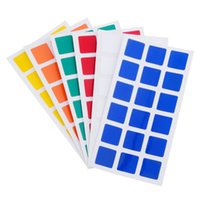 Magic Cubo PVC Pegatinas para Dayan GuHong 3x3x3 57mm Magic Cube Puzzle Juguetes - 2 Set