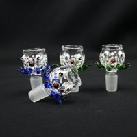 big blue octopus - New Arrive Big And Deep bowl octopus Style in Color Blue Green mm For Glass water pipe bongs Glass bong