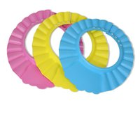 Wholesale High Quality Baby Waterproof Adjustable Shampoo Cap Bath Shower Wash Hair Shield Hat Cap Yellow Pink Blue