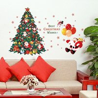 best bathroom tiles - Christmas Tree Santa Claus Wall Sticker Xmas PVC Removable Wall Stickers Home Wall Decor Poster BEST CHRISTMAS WISHES