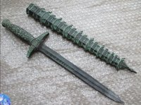 ancient chinese swords - 48cm The ancient Chinese bronze statue of a pagoda sword The pagoda