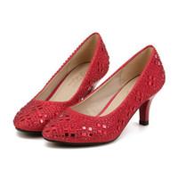 Wholesale 2016 New Design Ladies Wedding Shoes Elegent Rhinestone Stilettos Women Pumps Banquet Party Bridal Shoes TZ0466