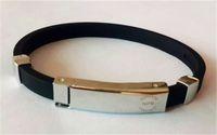 balance magnetic bracelet - Hot sale fashion jewelry NPB Titanium ionic magnetic bangle power silicone wristband balance lanyard ion hologram charm bracelet