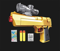 Wholesale 2016 Air Gun Desert Eagle toy gun compatible with Soft and Crystal Bullets Best Gift for Military fans