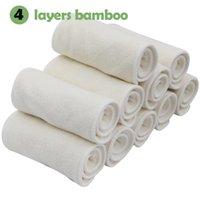 bamboo terry towelling - 30pcs Small wholesael layers natural bamboo terry towel reusable pocket baby cloth diaper insert bamboo