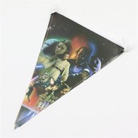 Wholesale New Arrival Star Wars Party Pennant Bunting Decoration Birthday Party Flag Banners Kids Boys Event Party Supplies