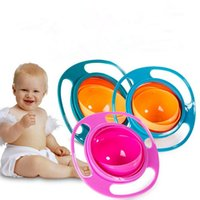 baby feeding dish - Baby Kid Food Spilling Gyro Bowl Dishes Rotate Non Spill Bowl Feeding Dish Baby Snack Bowl fast shipping