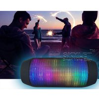 audio shows - Bluetooth Speaker For iPhone Wireless Bluetooth Custom LED Light Show Portable Wireless speaker Bluetooth Black Mini Speaker