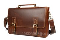 Marron haute qualité mode classique occasionnels en cuir véritable imperméable à l'homme utiliser sac à main sac à dos unique pour les hommes ou les étudiants de bureau