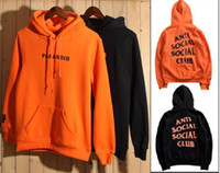 Wholesale New Anti Social Social Club Hoodie Men Paranoid Anti Social Club Undefeated Women Kanye ASSC Pullover Sweatshirt