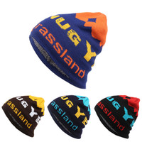 Unisex head skis - Mix order Trade Skiing Knitting Hat cheap Letter cotton Knitting Hat Set Head Cap