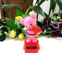 bear solar lights - Retail Package Swing Ceaselessly Under Full Light Novelty Valentine s Day Gifts Rocking Solar Love Angel Bear