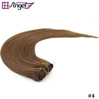 Wholesale GH Angel inches g set Real Human Hair Clip In On Hair Extensions Colors Optional