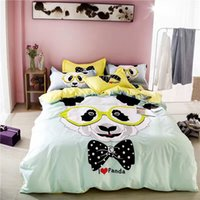 Wholesale Light Green Cotton Bedding Sets Duvet Cover Sets Home Textiles Summer Autumn Kids Bedding Set Bed Sheet Set Pieces