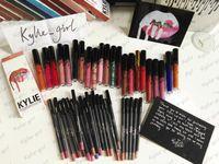 Wholesale 24Colors Kylie Lip Gloss Lipstick Kylie Jenner lip Kit Lipliner Lipgloss Liquid Lipsticks Matte kylie lip kit Moon Spice Pumpkin Smile LEO
