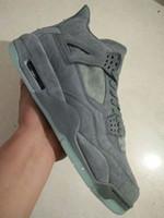 Zapatos de baloncesto retro 4s fresco gris hombres zapatos atléticos venta al por menor al por mayor 930155-003