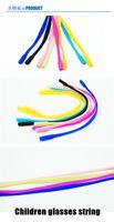 Wholesale 6piece per dozen Children silicon glasses string eyeglasses cord elastic sporty glasses string rope cm or cm lengthen style freeshipping