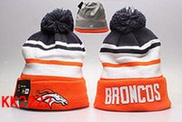 Wholesale free ship New Broncos Beanies Pom Knit Hats world Series Sports Cap Mix Order Top Quality Hat Winter Wool Hats Cubs