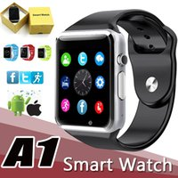 Wholesale A1 Smart Watch Bluetooth Touch Screen Smartwatch iWatch Support SIM TF Card Smart Watches for Smartphone With Retail Package