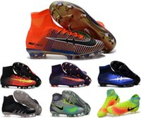 Wholesale Mercurial Superfly CR7 Soccer Shoes anniversary boy magista Soccer Boots Cleats Men shoes Soccer Shoes Youth Superflys Football Shoes