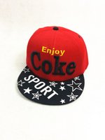 Wholesale Hiphop Enjoy COKE Snapback caps mens most popular adjustable snapback hats freeshipping red white
