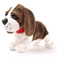 barking dog toys - Electric Toy Dog Plush Interactive Puppy Doll Gift Barking Flip Sit Walks