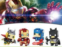 Wholesale Marvel Super hero Diamond Mini Building Blocks Styles ABS Children Toys New originalit funny mix order