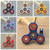Wholesale Finger Hand Spinner Fidget Spin Toy Bearing Fidget Toy Handspinner Tri Spinner Hand Spinner Novelty Decompression Toy Spinning Tops F526