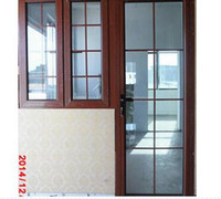 Wholesale 007 Building material Aluminum Alloy house construction Glass Til turn Swing Folding Fixed opening Door
