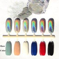Wholesale New g Box Holographic Laser Powder Punk Nail Glitter Rainbow Chrome Powder Metal Pigments Dust Nail Decoration