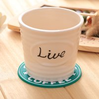Wholesale A large number of fashion classic mermaid antiskid coasters ceramic cup mat Mark mat coffee cup mat