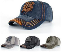 b baseball cap - New Cotton Letter B Adjustable Embroidered Snapback Baseball Cap Men Cowboy Bone Hats Outdoor Sports Benn Polo hat